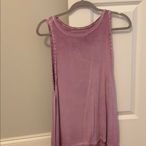 Mauve tank with braid detail